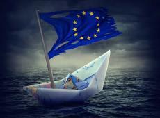 Bootje met Europese vlag