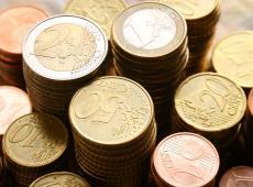 Stapels euromunten