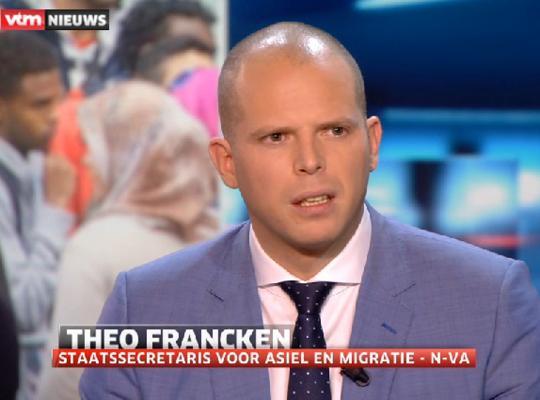 """Theo Francken in VTM Nieuws: """"Ik zal de crisis altijd een stap voor proberen te zijn"""""""